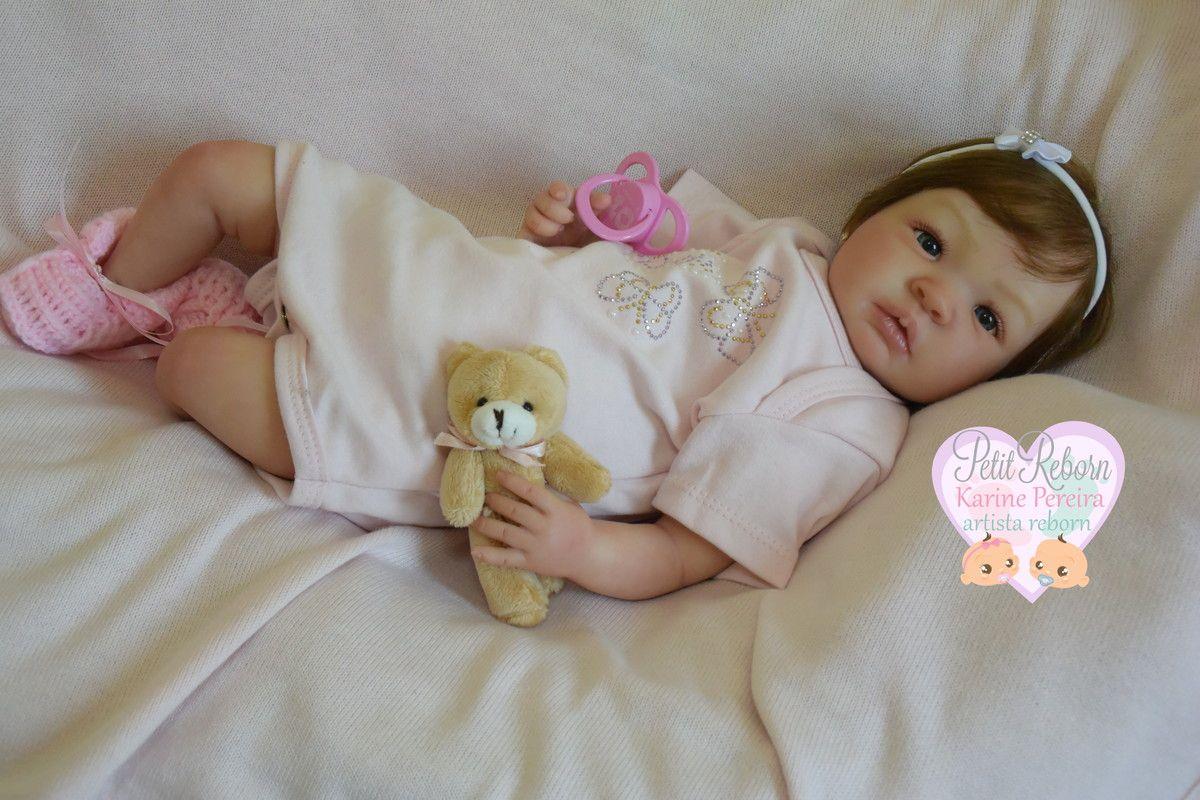 bf214316c Bebê Reborn - kit Shyann original com SISTEMA DE BATIMENTOS CARDÍACOS  (CORAÇÃO) Pintura toda