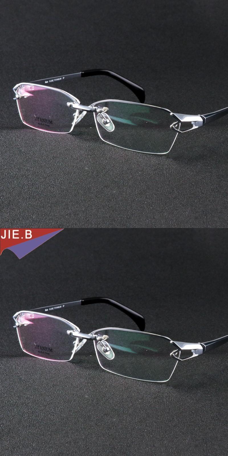 11c2aaad8a Pure Titanium Half Rim eyeglasses frame unique designer Men Glasses suit  reading clear glasses optical prescpriton
