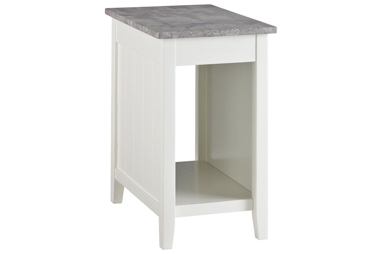 Diamenton Chairside End Table With Usb Ports Outlets Ashley Furniture Homestore End Tables Table Ashley Furniture Homestore