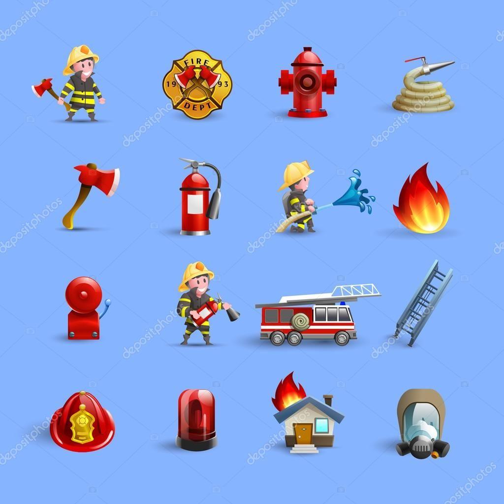 Departamento de bomberos para combatir incendios brigada municiones ...