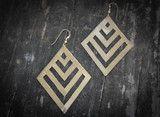 Evergreen Brass Earrings