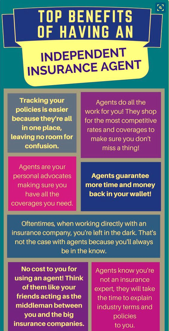 Top Benefits Of Having Independent Insurance Agent Info Graphic