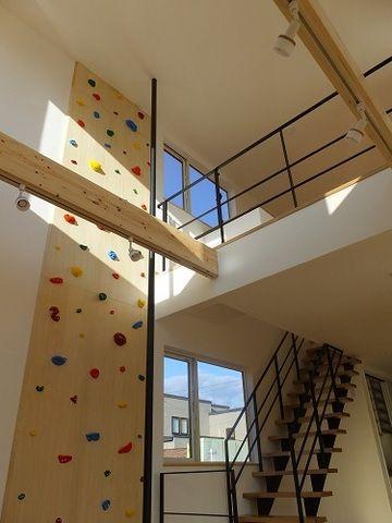 遊び心 ボルダリングとのぼり棒 のある家 施工例 建成ホーム