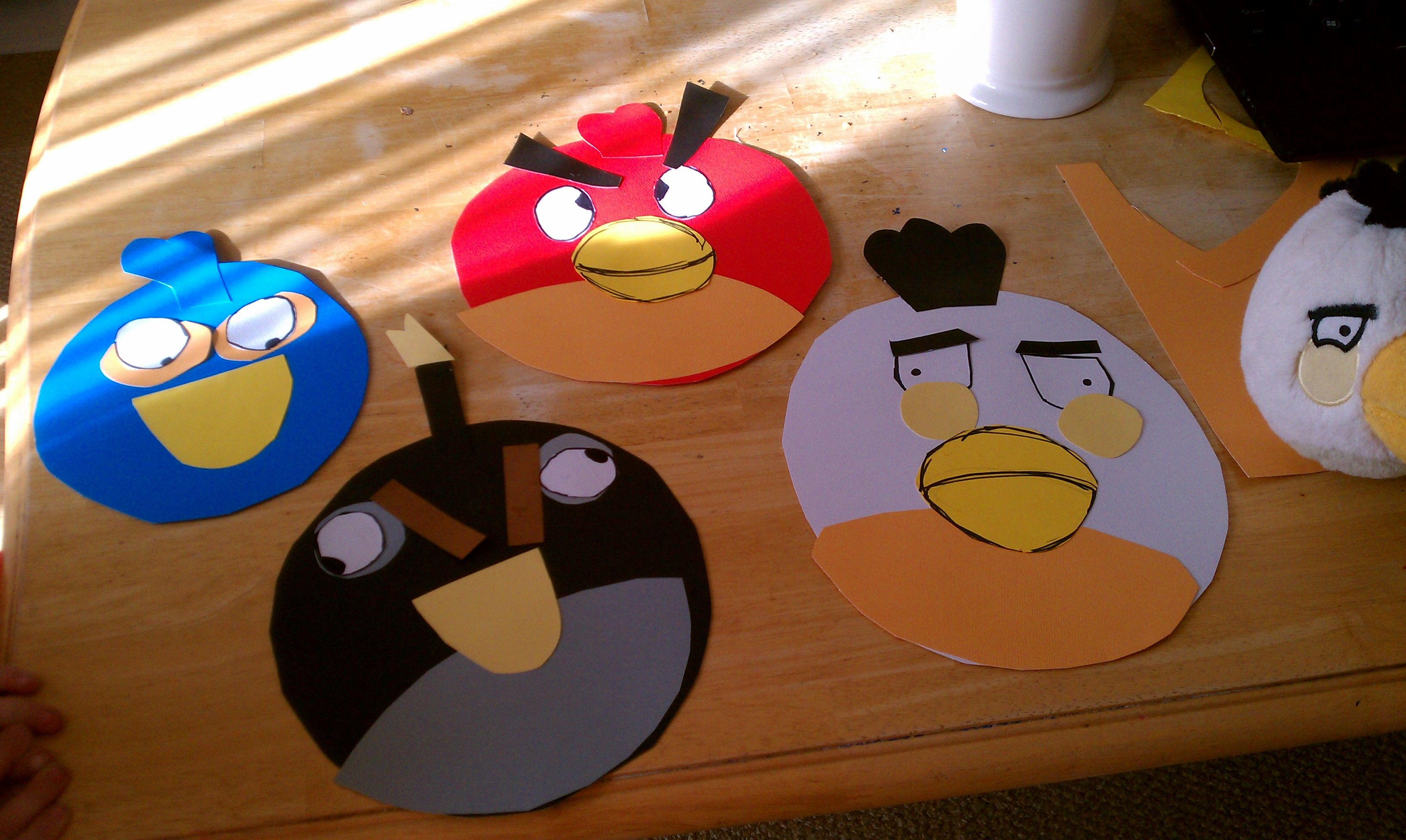 Angry Bird Glue Crafts The Kids Did