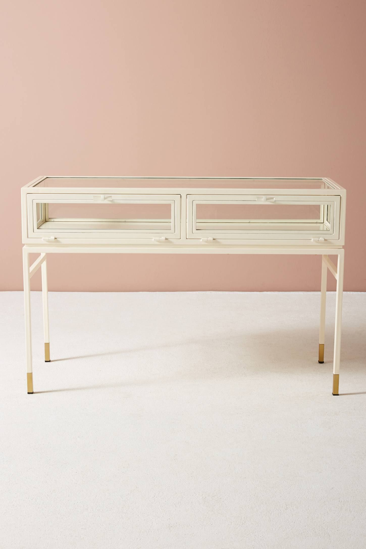 Shop The Tannehill Display Storage Console Table And More Anthropologie At Anthropologie Today Read Customer Reviews Disc Display Storage Console Table Table