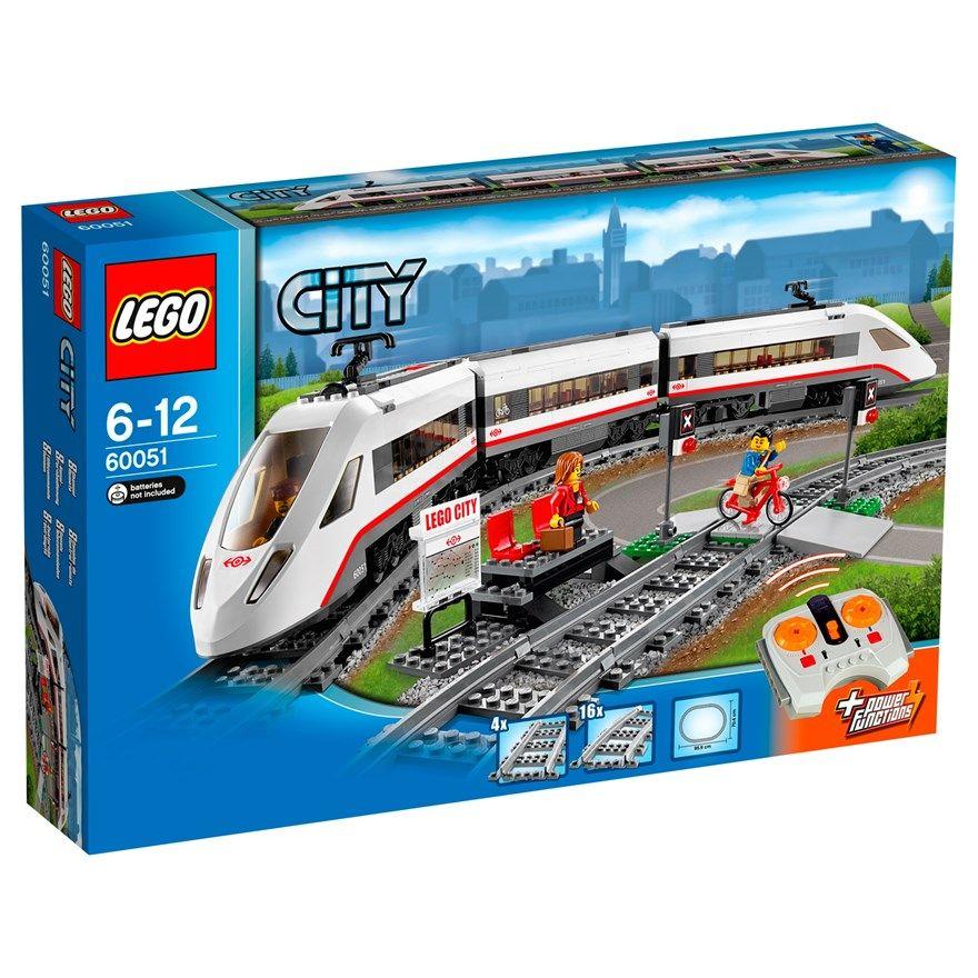 Lego City High Speed Passenger Train 60051 Lego City Train Lego City Sets Lego City