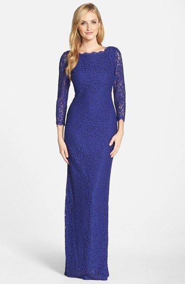 Women's Adrianna Papell Scalloped Lace Gown | Mothers, Columns and ...