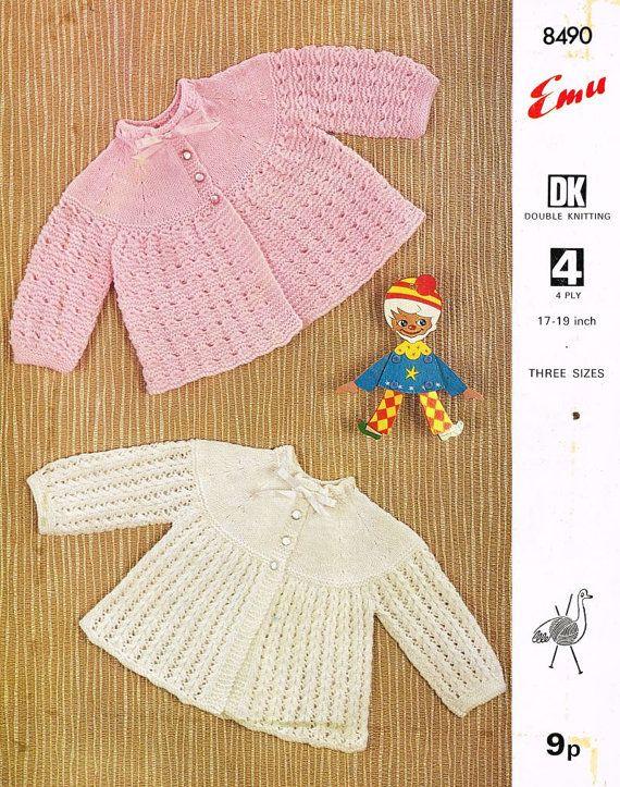 Vintage Baby Matinee Coat Vintage Knitting Pattern Pdf Instant
