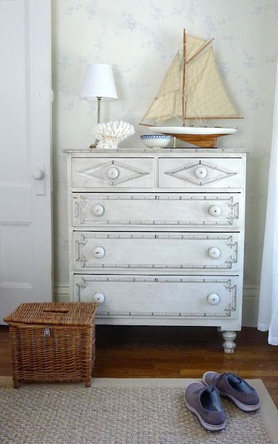 An Urban Cottage--faux-painted bamboo chest. I'd like two, please.