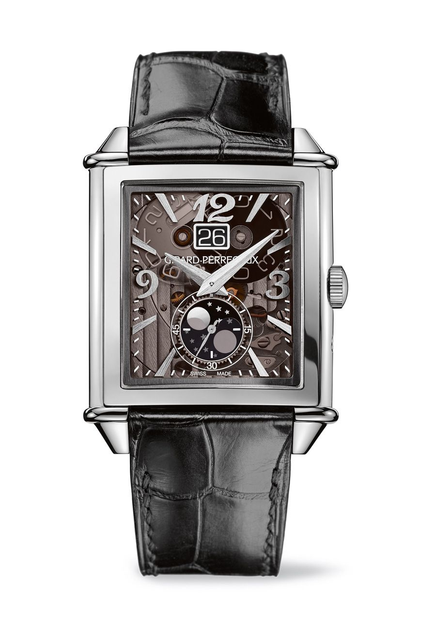 Girard-Perregaux: Vintage 1945 Large Date, Moon Phases in Edelstahl
