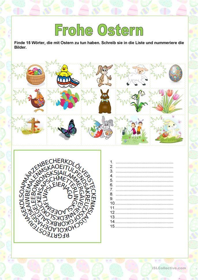 FROHE OSTERN | Pinterest | Frohe Ostern, Frohe und Worte schreiben