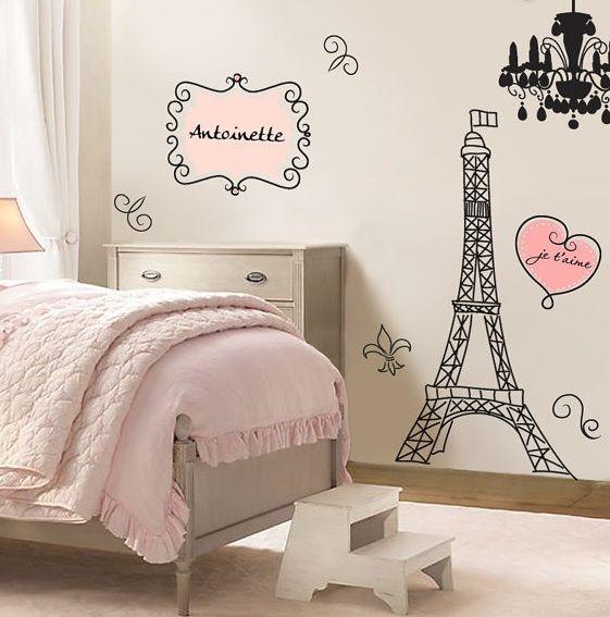 ideas para decorar una habitacin inspirada en paris chambres chambre pour fille et design maison