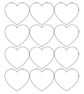 Lots Of Super Cute Valentine S Day Snack Ideas For Kids Printable Heart Template Heart Printable Heart Template