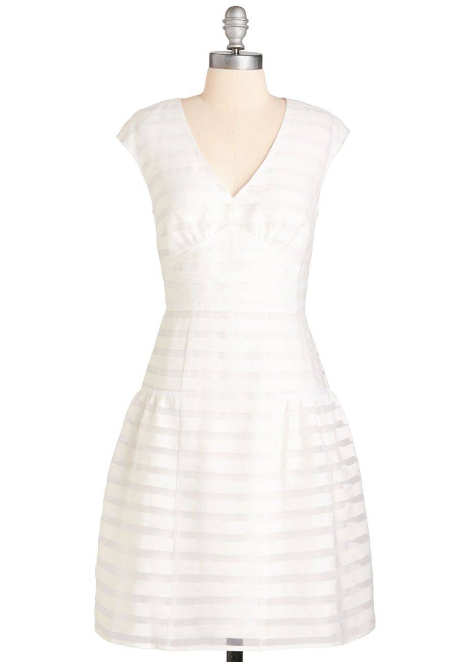 c82e0414f7c Donna Morgan Polished and Polite Dress - White