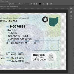 Ohio New Driver License Editbale Psd Template Psd Templates New Drivers Drivers License