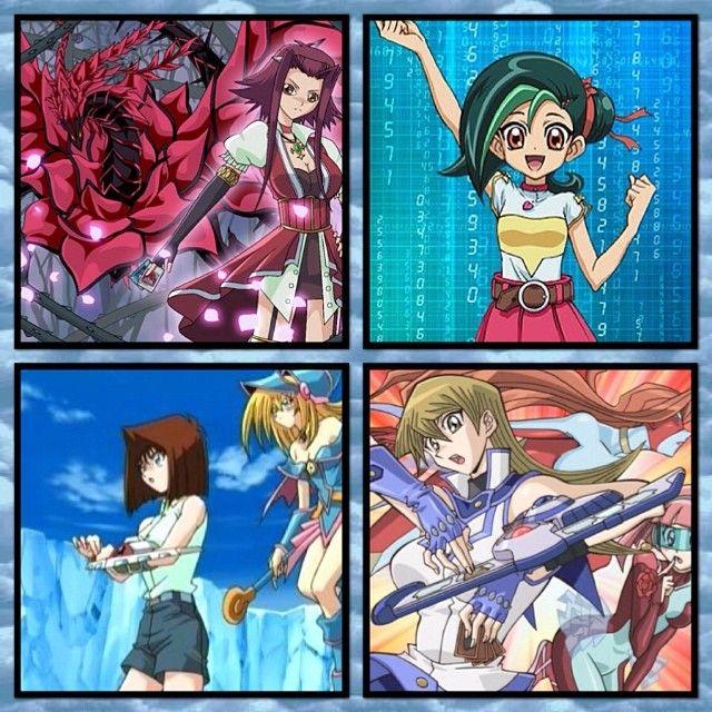 The female protagonists of Yu-Gi-Oh! #yugioh #yugiohgx #