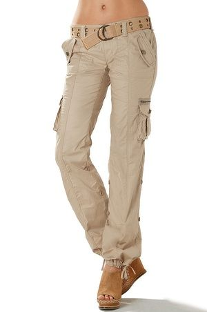 774ffaca0444 Shop today for the latest in women's fashion! Belted utility cargo pant -  Boston Proper Cargo Shorts Women, Cargo Pants Outfit, Ladies