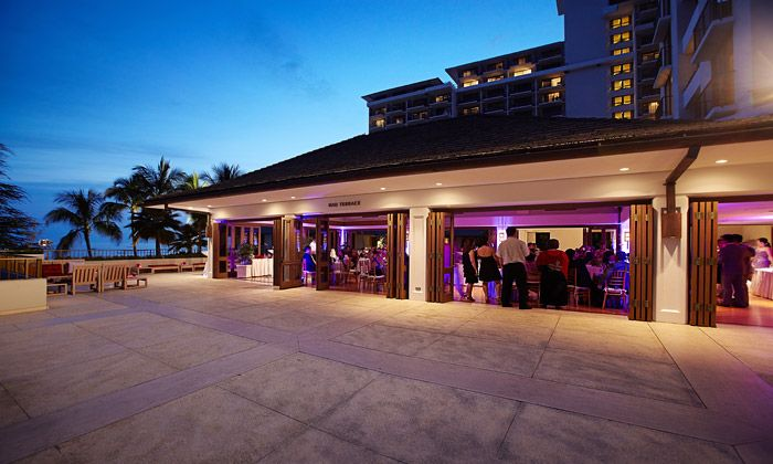 Hau Terrace Wedding Reception At Sunset Halekulnai Hotel