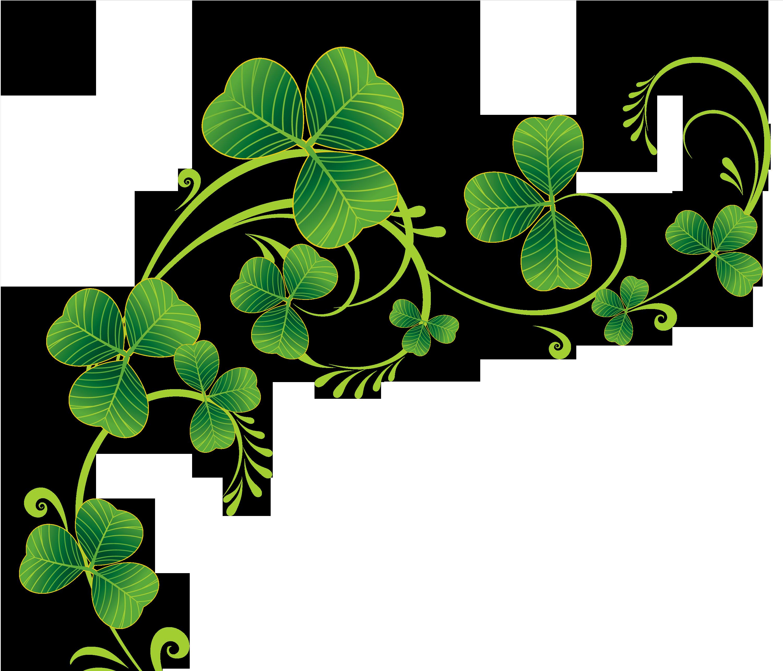 Clipart Shamrock Tattoos St Patricks Day Pattys Music