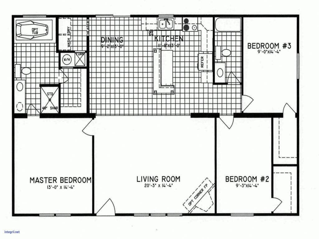 24x36 Floor Plans in 2020 Modular home floor plans