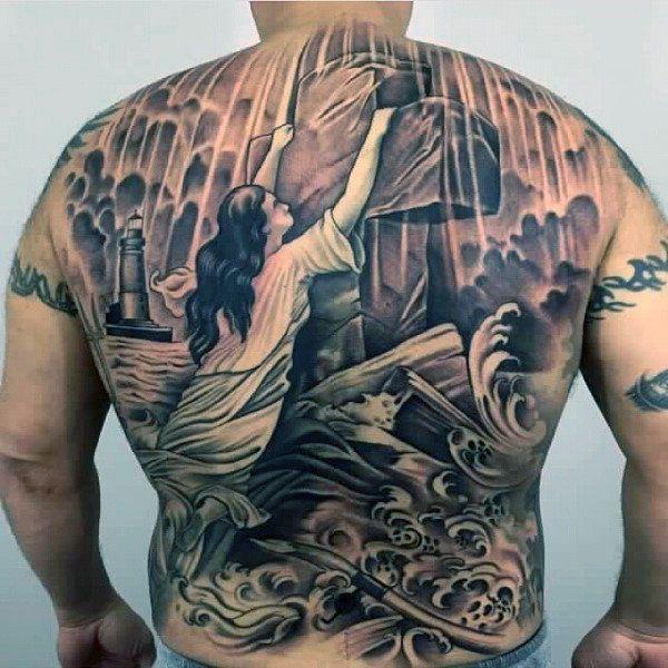 Tatuaże Religijne Krzyż Na Plecach Tattoos Pinterest Tattoos