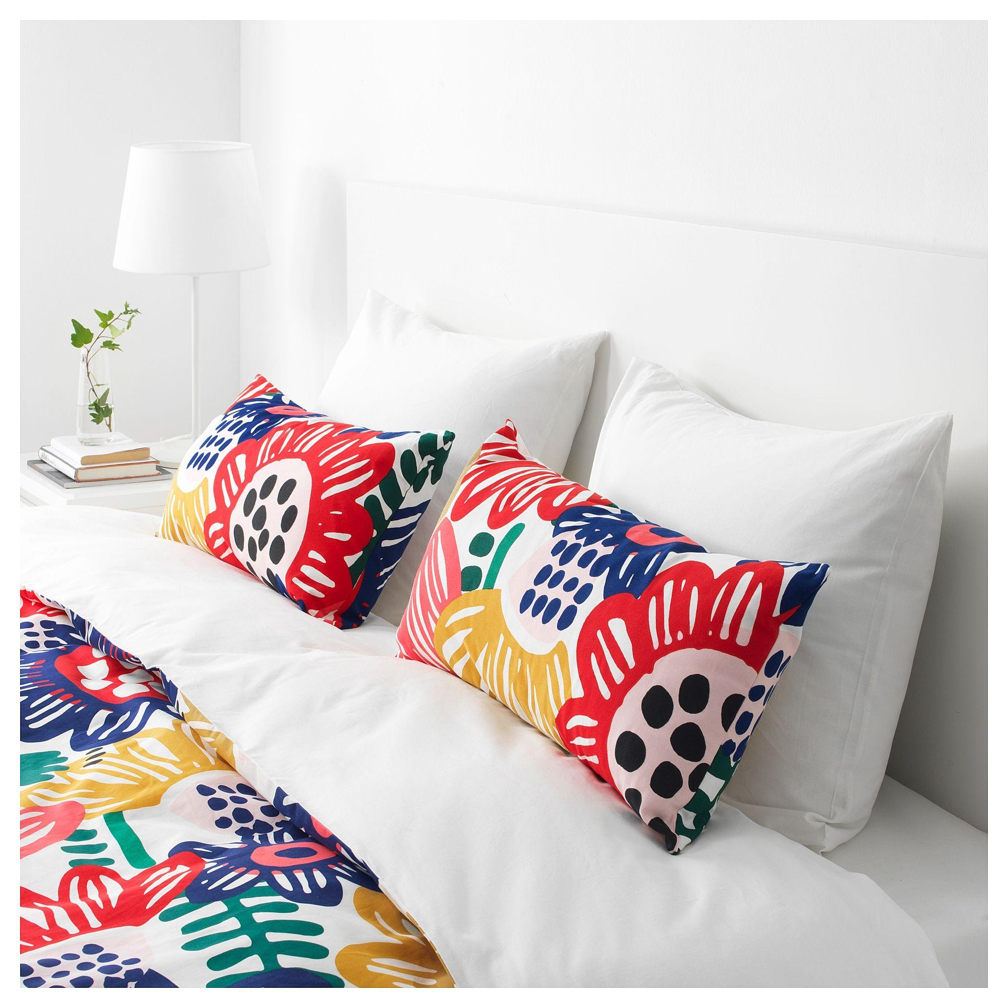 IKEA SOMMARASTER Cushion white/multicolor Cushions