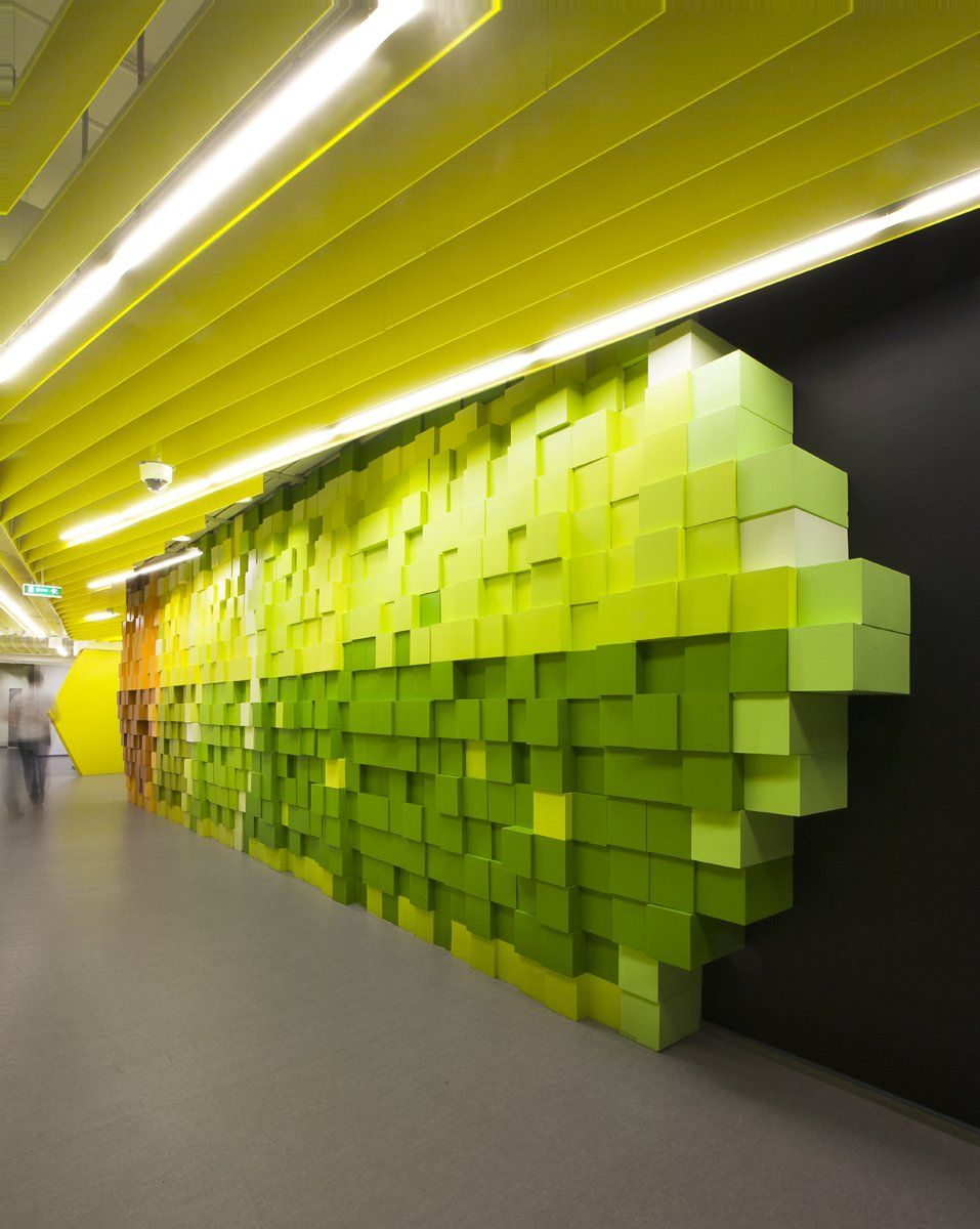I want to work in an office like this!) Wall art in Yandex Office II ...