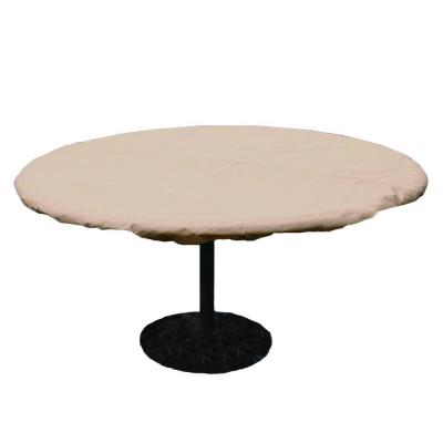 Charming Hearth U0026 Garden Polyester Standard Round Patio Table Cover With PVC  Coating, Brown