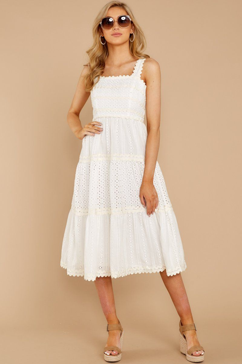 Who Goes There White Eyelet Midi Dress Dresses White Midi Dress Lace White Dress [ 1200 x 800 Pixel ]