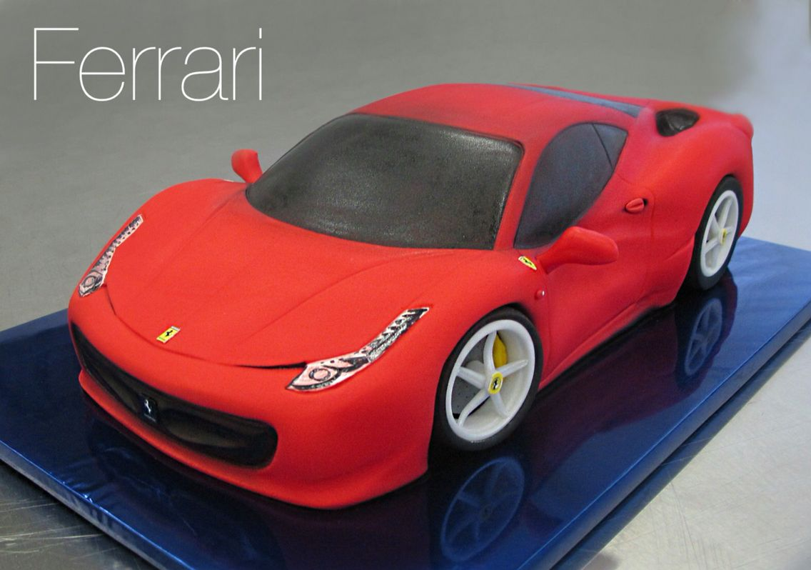 Ferrari Cake With Images Ferrari Cake Car Cake Car Cakes