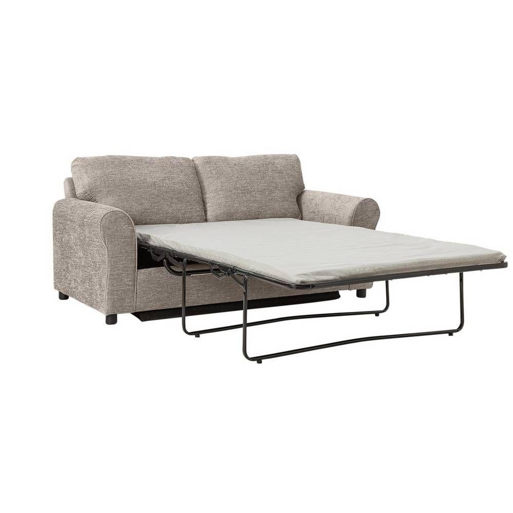 Home Tessa 2 Seater Fabric Sofa Bed Mink Fabric Sofa Sofa Bed