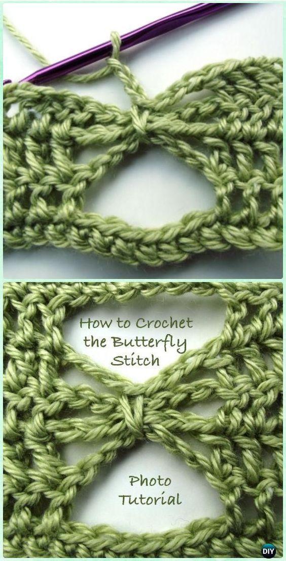 Crochet Butterfly Stitch Free Patterns