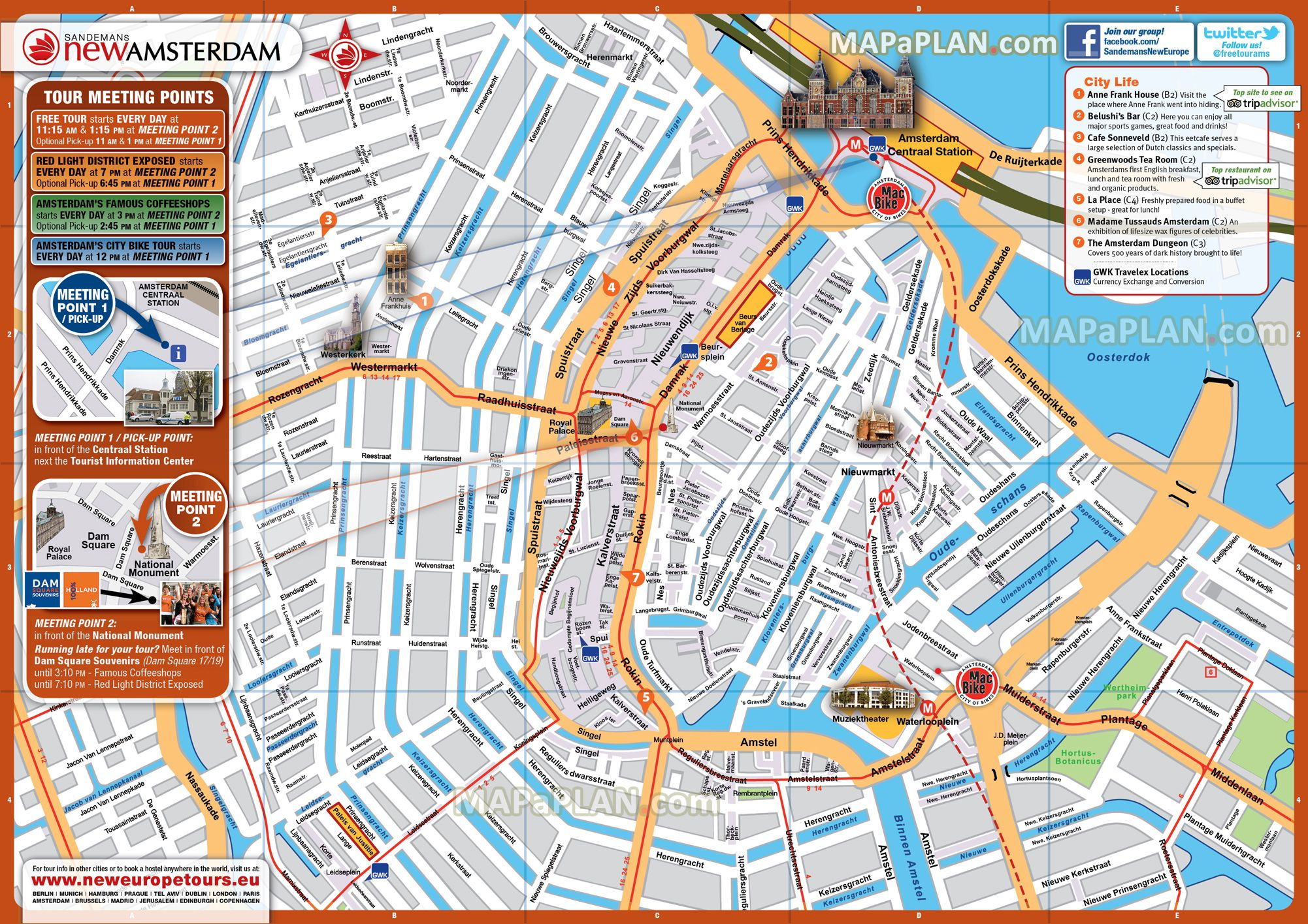 photo regarding Printable Map of Amsterdam identified as Amsterdam Maps Supreme Vacationer Points of interest No cost Printable Town