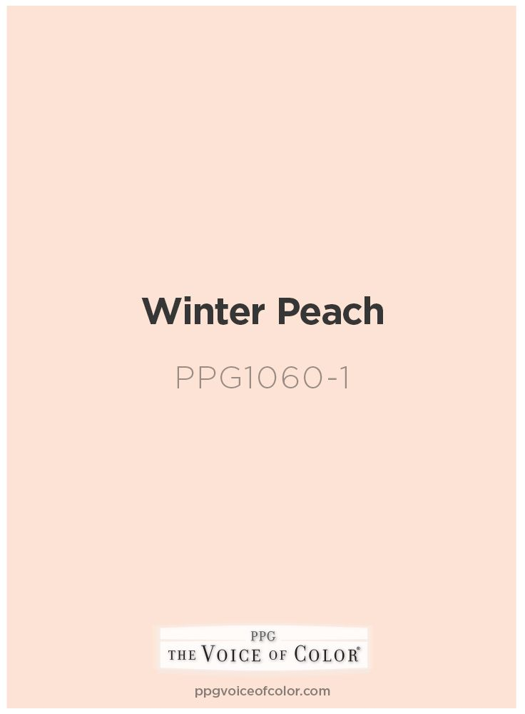 Peach Paint Color By Ppg Voice Of Color Winter Peach Ppg