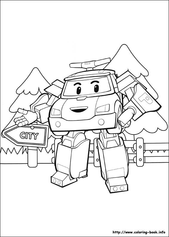 Robocar Poli coloring picture | Coloring books, Coloring pages, Coloring pictures