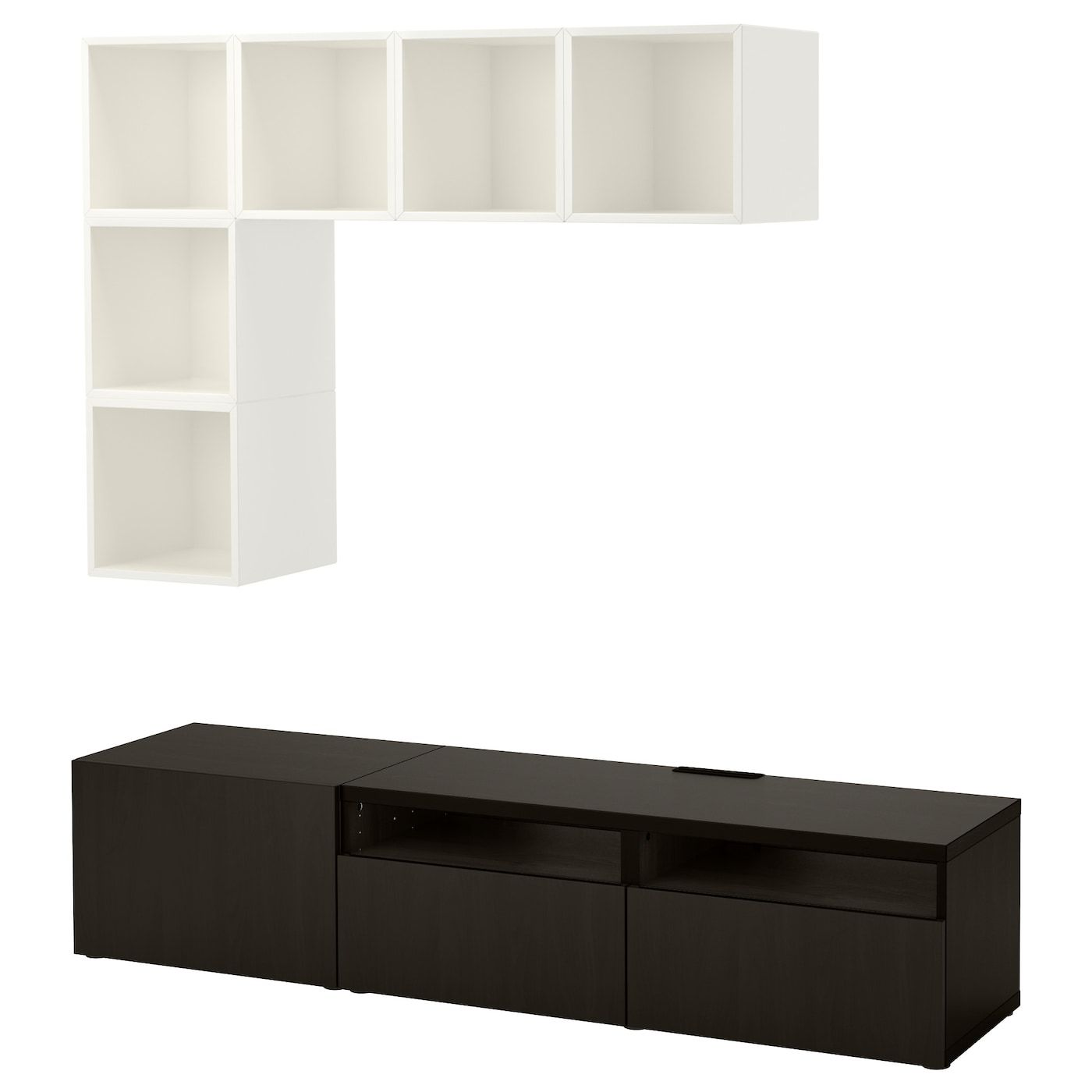Tv Kast 70 Cm.Besta Eket Cabinet Combination For Tv White Black Brown