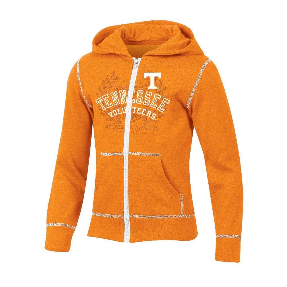 faf67a875db Tennessee Volunteers Girls  Long Sleeve Full Zip Hoodie - L ...