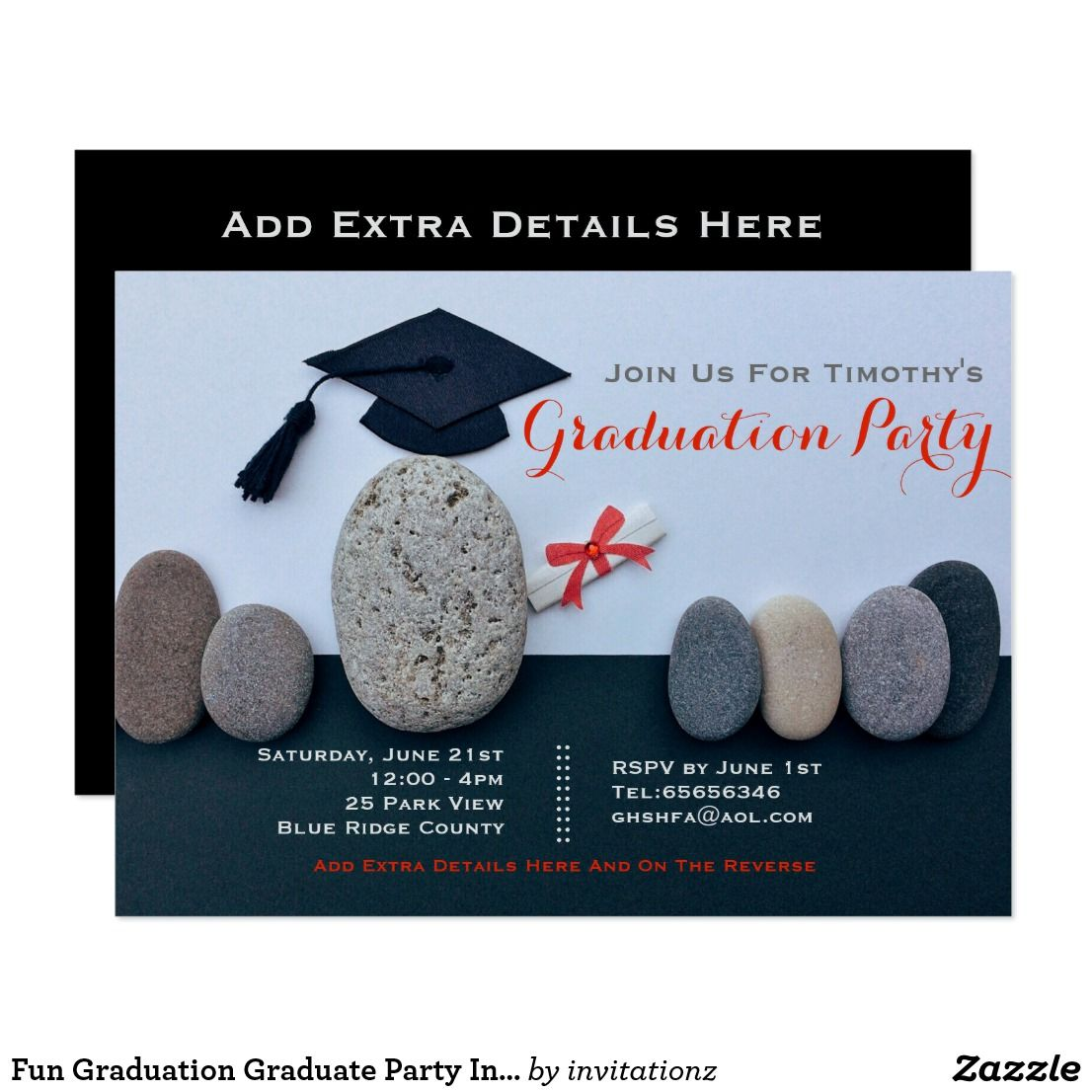 Fun Graduation Graduate Party Invitation