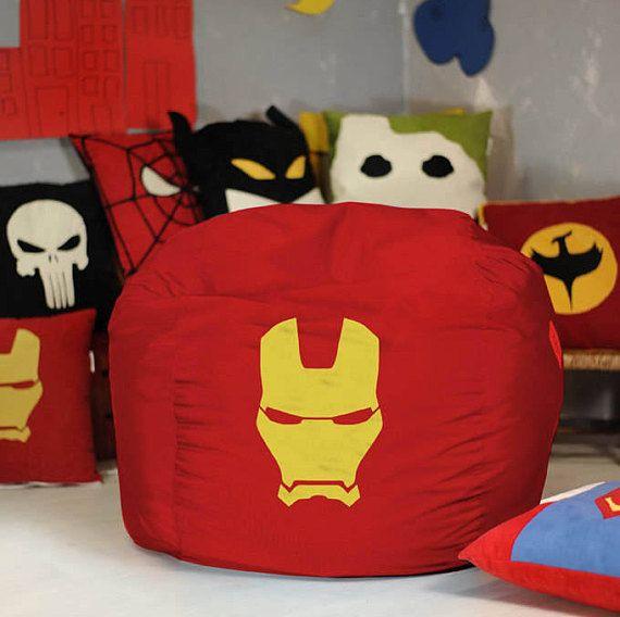 Superhero bean bag chair cover, Bean bag chair, Superhero Gift, Superhero decor, Comic Gift, Superhero room, Superhero Pouf, Superhero party #superherogifts