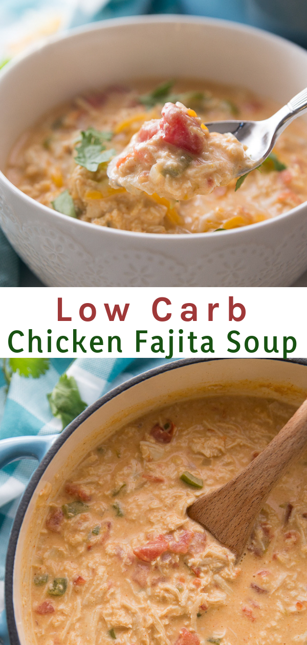 This Low Carb Chicken Fajita Soup is delicious, full of flavor, and extremely filling.…