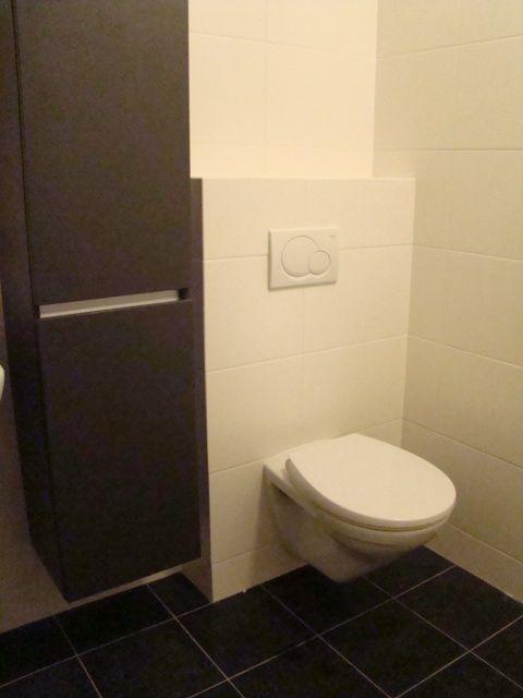 Gerealiseerde badkamer met toilet en hoge kast door Sanidrome Jans ...