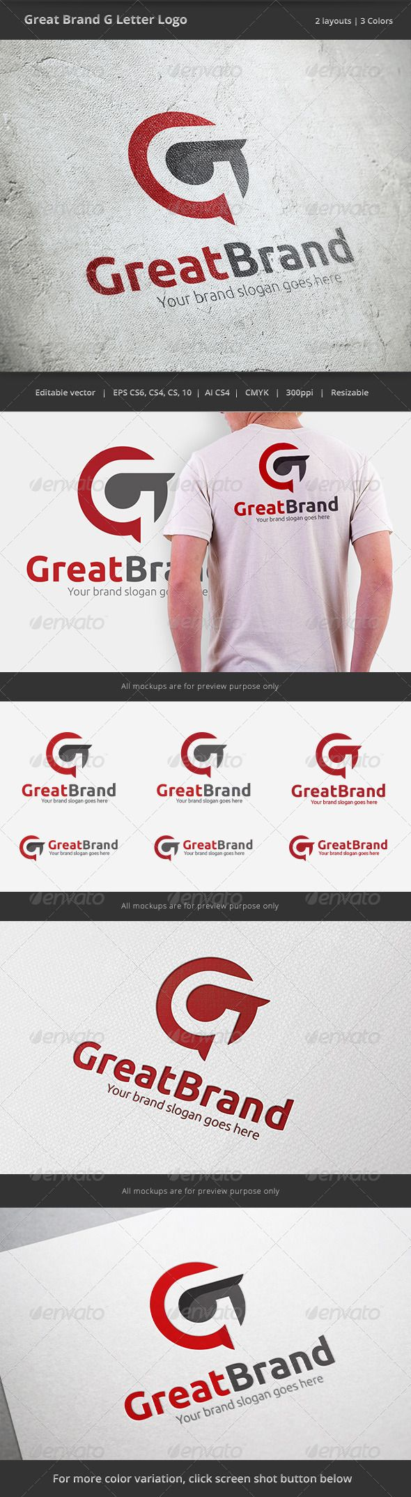 Great Brand Letter G - Logo Design Template Vector #logotype Download it here: http://graphicriver.net/item/great-brand-letter-g-logo/6430817?s_rank=47?ref=nesto