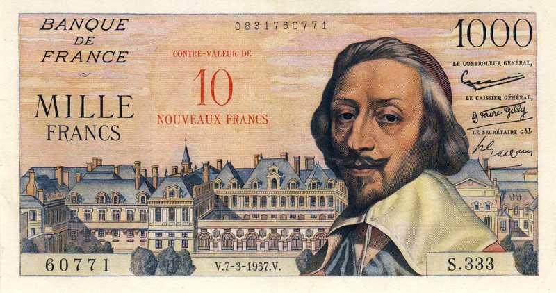 Collection Billet Banque De France F 53 10 Nf Sur 1000 Francs