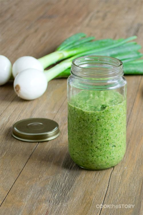 Onion Top Pesto Recipe Side Dishes Pesto Recipe Food
