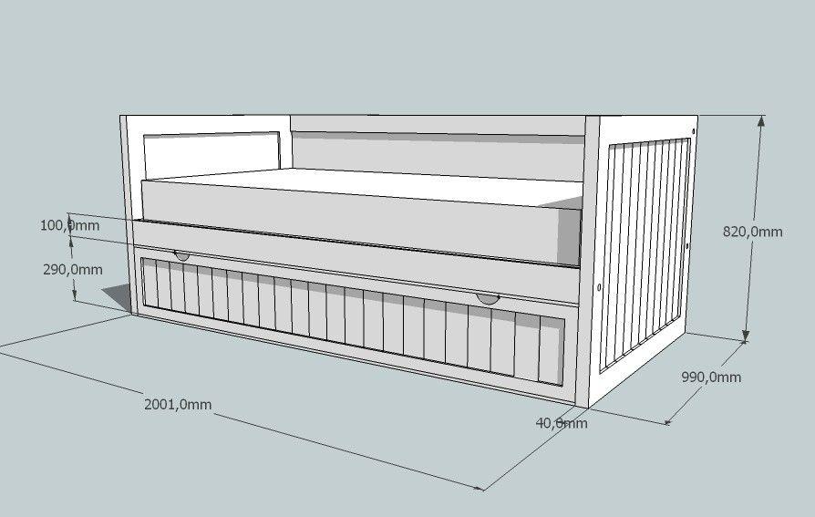 Resultado de imagen para cama nido medidas | muebles | Pinterest ...