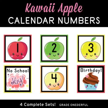 These apple number cards are perfect for your pocket chart
