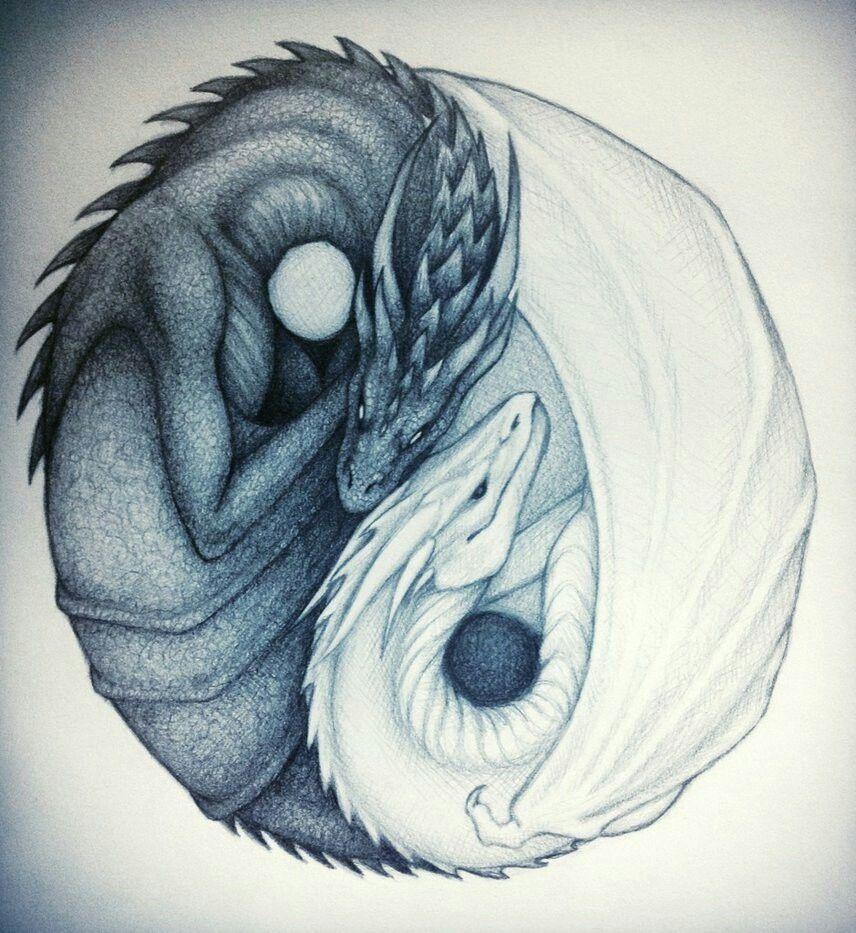 Yin yang dragons | anime | Pinterest | Dragon and Yin yang