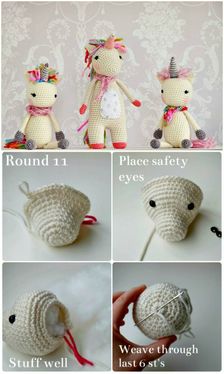 Crochet Unicorn Pattern- 32 Free Crochet Patterns | Unicornio ...