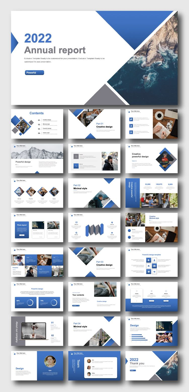 Business Analysis Annual Report Presentation Template