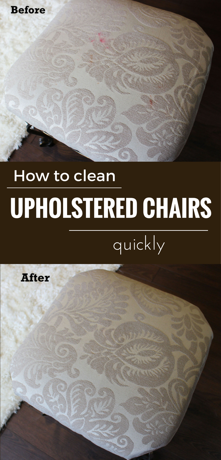 Useful Tricks To Clean Upholstered Kitcken Chairs Quickly Cleaning Furniture